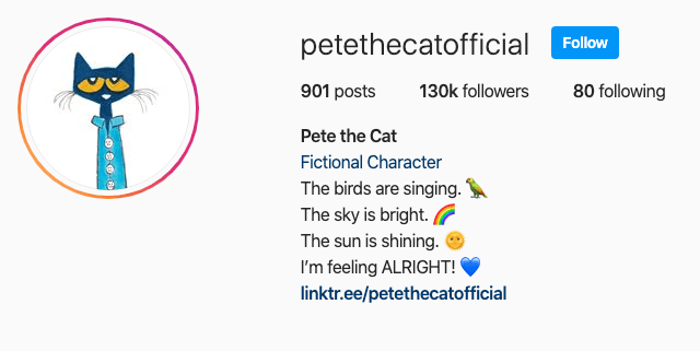 Pete's Instagram Opens in new window