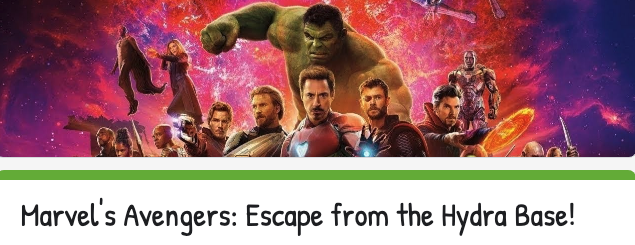 Avengers Escape Room Opens in new window