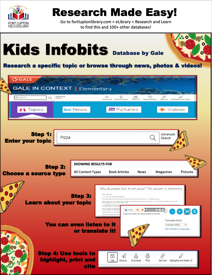 Kids Infobits Instructions Opens in new window